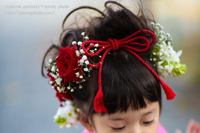 七五三 生花髪飾り