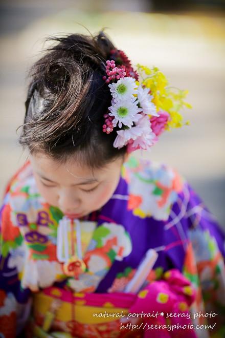 生花の髪飾りプラン【花×写真=天使のポートレイト】