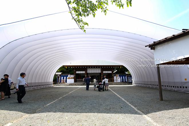 横浜・伊勢山皇大神宮のエアテントが圧巻!